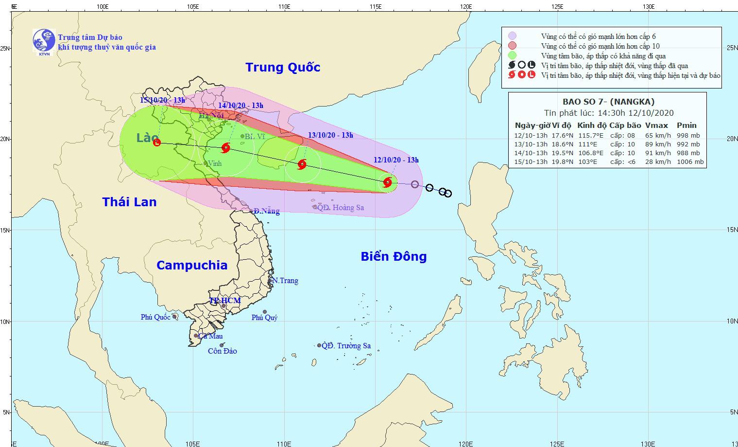 Khẩn: Bão số 7 thẳng tiến các tỉnh Bắc Bộ, Bắc Trung Bộ, giật cấp 12, nguy cơ mưa rất to  - Ảnh 1.