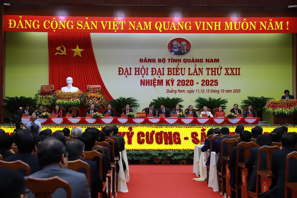 Đại hội đại biểu lần thứ XXII tỉnh Quảng Nam: Phấn đấu năm 2025 thu nhập bình quân đầu người 70 triệu đồng - Ảnh 1.
