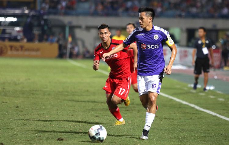 Văn Quyết đã đóng góp 1 bàn trong chiến thắng 3-0 của Hà Nội FC trước HAGL ở giai đoạn 1 V.League 2020.