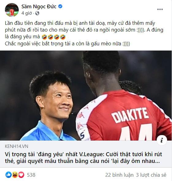 Đội trưởng CLB TP.HCM tiết lộ bất ngờ về trọng tài ở trận gặp Hà Nội FC - Ảnh 1.
