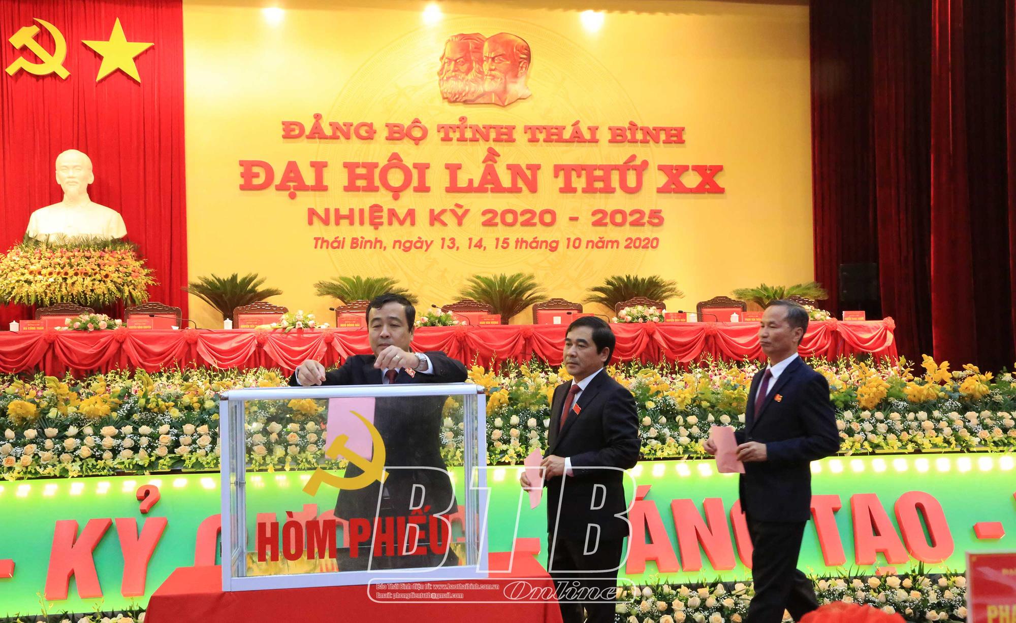Đại hội Đảng bộ Thái Bình: Bầu 1 lần đủ số nhân sự Ban Chấp hành khóa mới  - Ảnh 1.