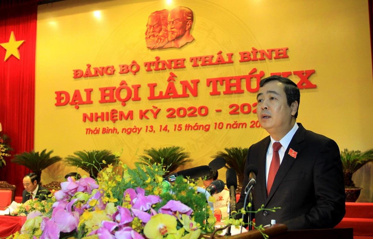 Ủy viên Dự khuyết Ban Chấp hành T.Ư Ngô Đông Hải tái cử Bí thư Tỉnh ủy Thái Bình khóa mới - Ảnh 1.