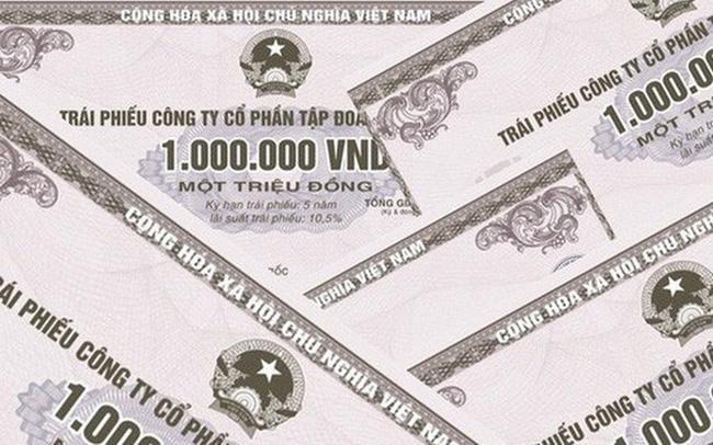 tổng giá trị trái phiếu doanh nghiệp được phát hành theo hình thức riêng lẻ là 10.905 tỷ đồng, bằng 1/4 so với tháng trước đó
