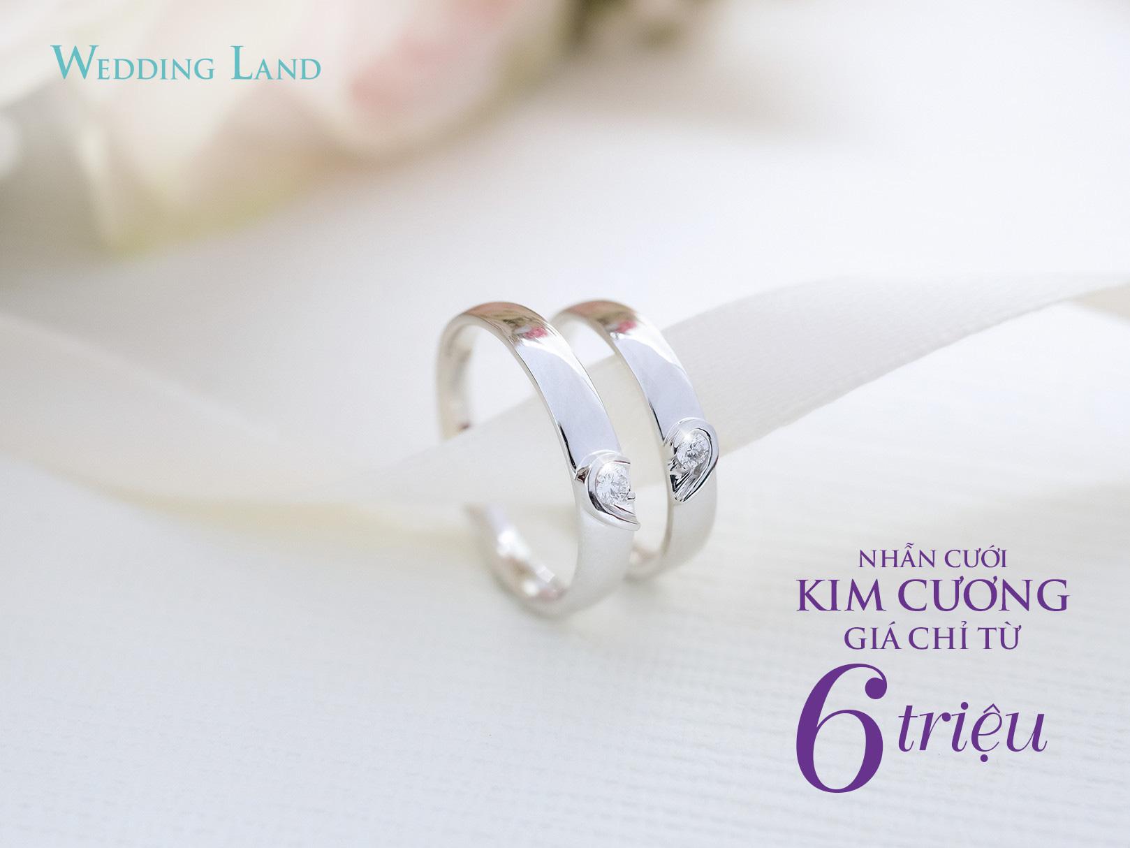 Cận cảnh nhẫn cưới kim cương giá 6 triệu đồng hot nhất thị trường - Ảnh 3.