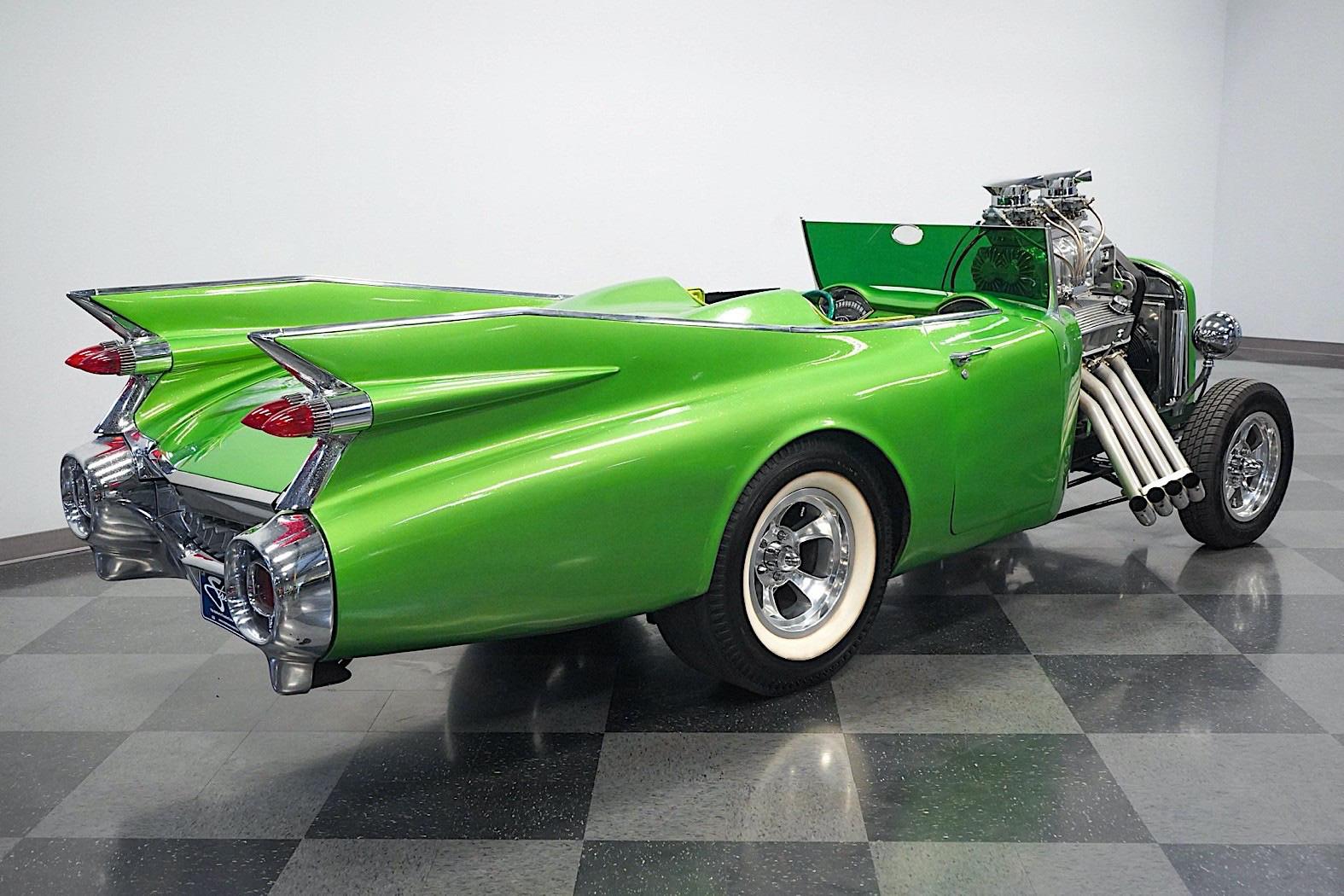 Chiếc xe cổ Cadillac 1959 phục chế biến tấu với động cơ lộ thiên  - Ảnh 6.