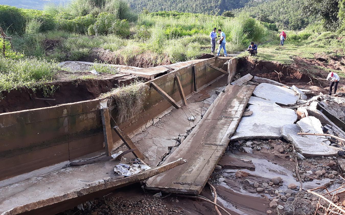Gia Lai: Công trình thủy lợi 119 tỷ đồng sạt lở, cong vênh trục xả đập do mưa lũ