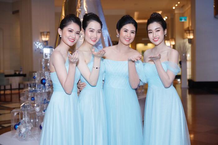Khi các nàng hậu Việt làm phù dâu, cô dâu xinh đến mấy cũng thấp thỏm vì sợ bị chiếm sóng - Ảnh 4.
