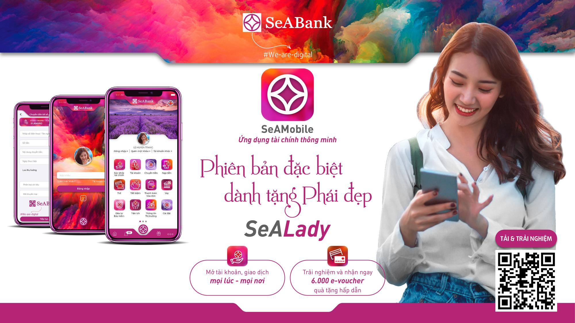 SeABank ra mắt ứng dụng ngân hàng số SeAMobile phiên bản đặc biệt dành riêng cho phái đẹp - SeALady - Ảnh 1.