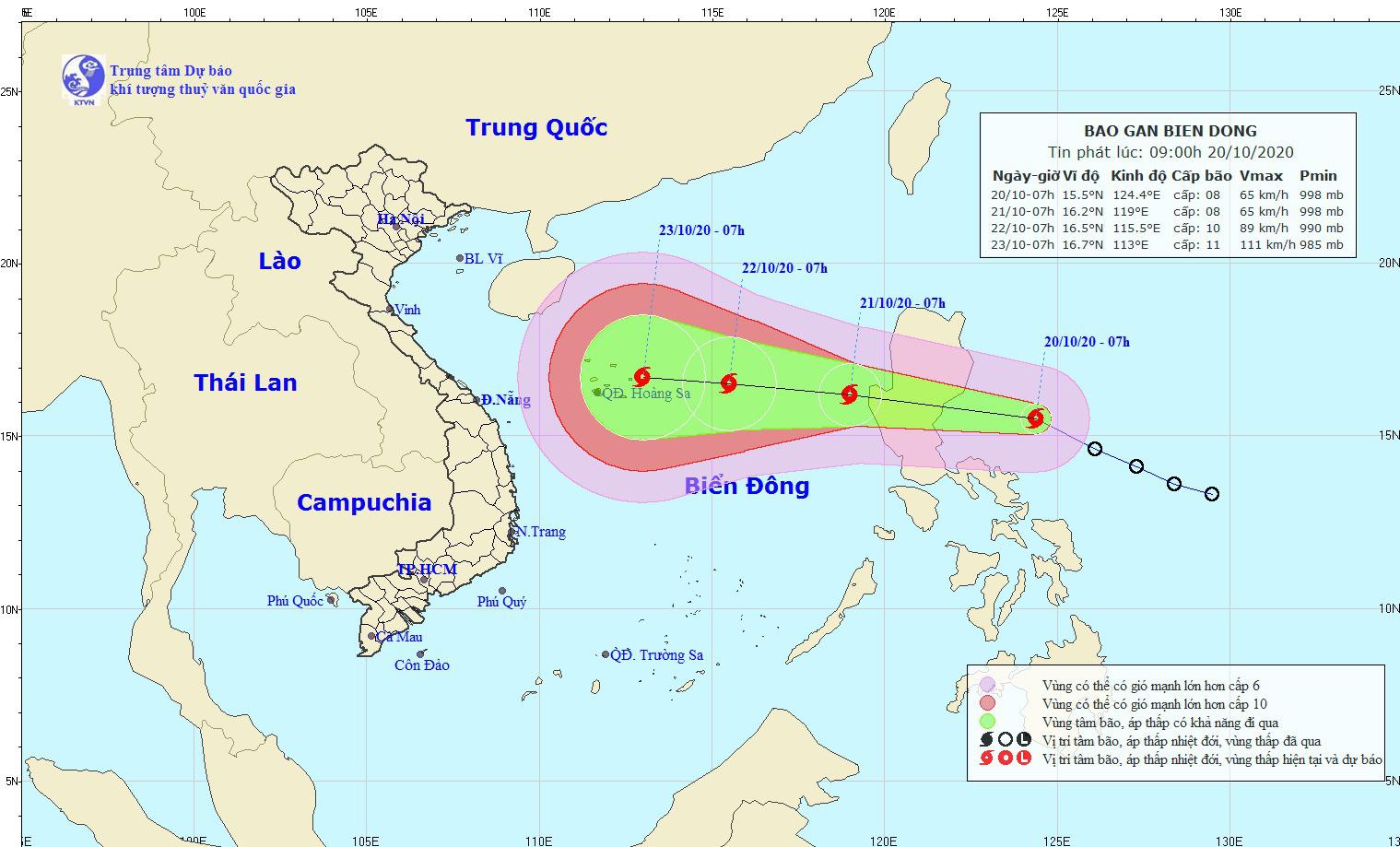 Nóng: Dự kiến, sáng mai 21/10, bão Saudel đi vào biển Đông, thành bão số 8 - Ảnh 1.
