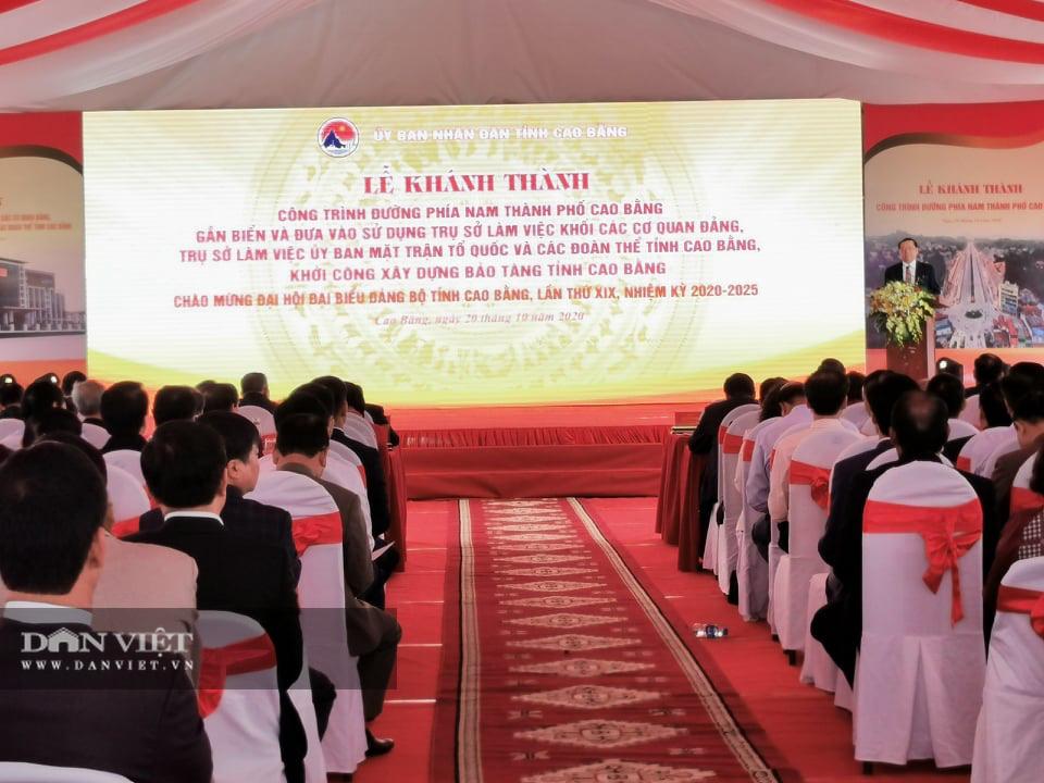 Cao Bằng: Khánh thành, gắn biển một loạt công trình chào mừng Đại hội Đảng bộ tỉnh - Ảnh 1.