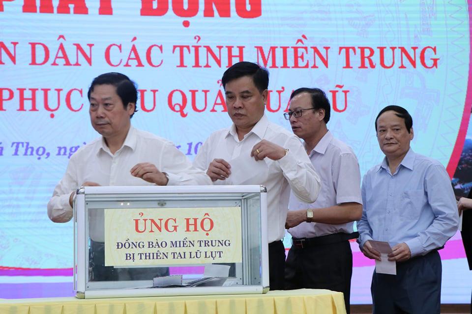 Phú Thọ: Phát động phong trào ủng hộ đồng bào miền Trung bị lũ lụt - Ảnh 2.