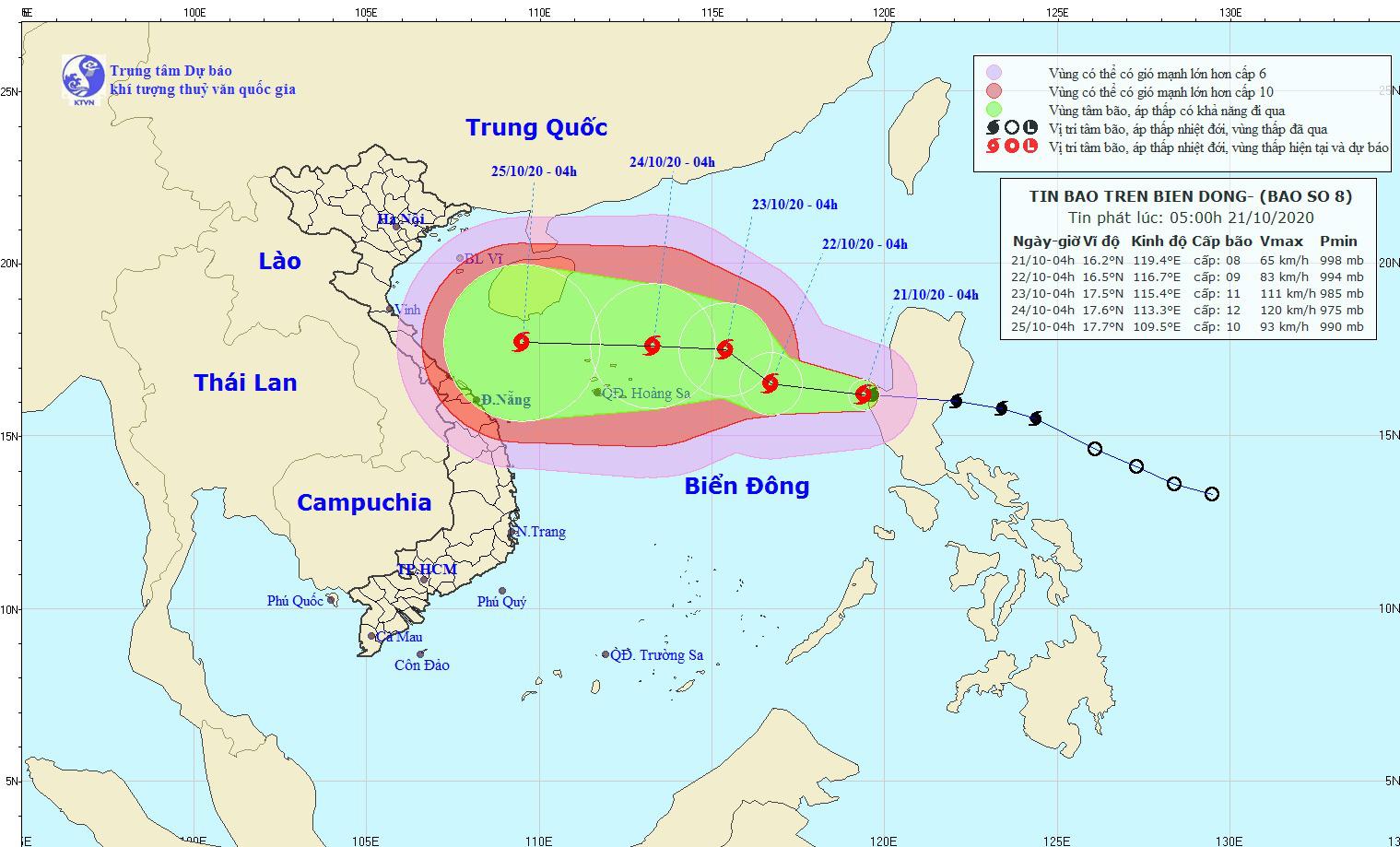 Nóng: Biển Đông đón bão số 8, miền Trung nguy cơ lại hứng mưa lớn - Ảnh 1.