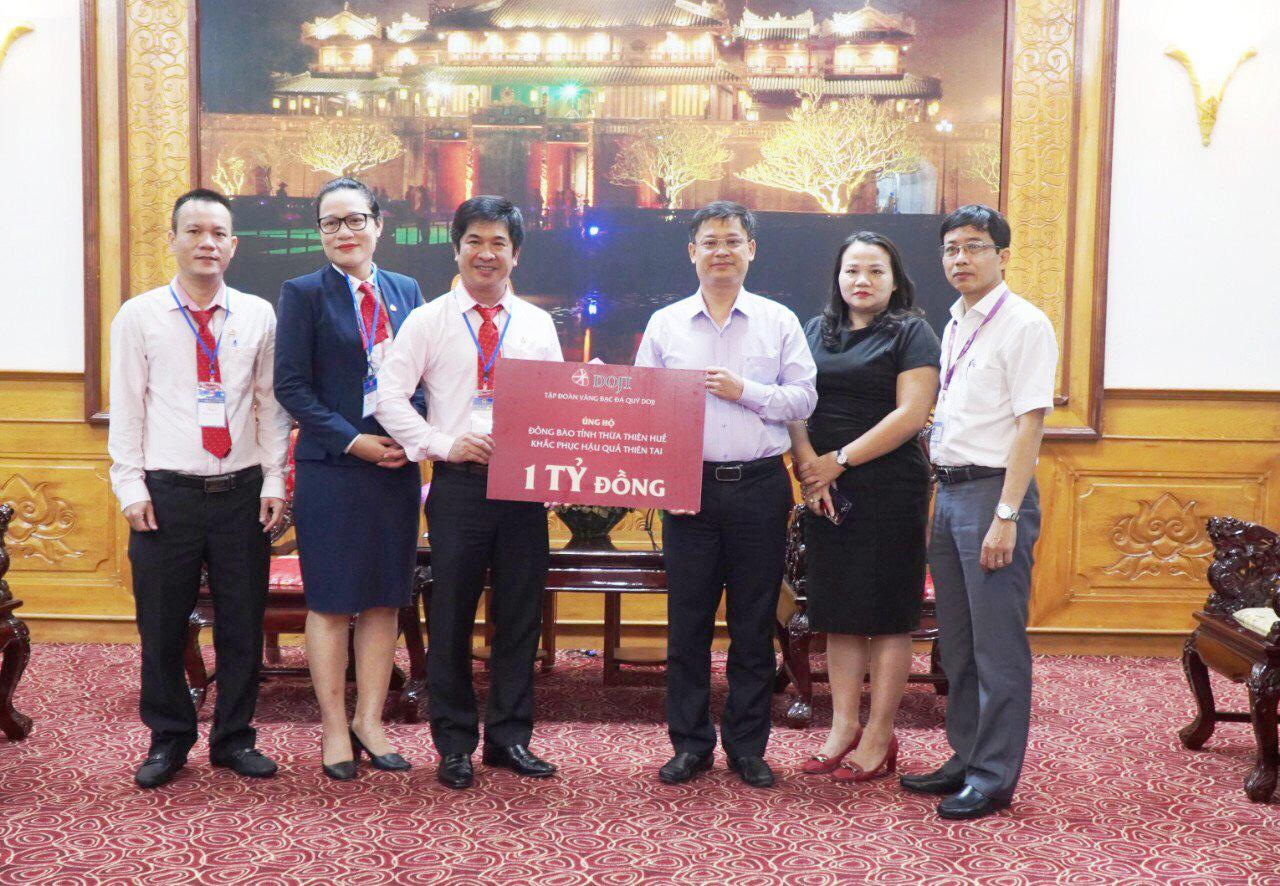 DOJI ủng hộ 1 tỷ đồng, san sẻ khó khăn người dân vùng lũ Thừa Thiên – Huế - Ảnh 1.