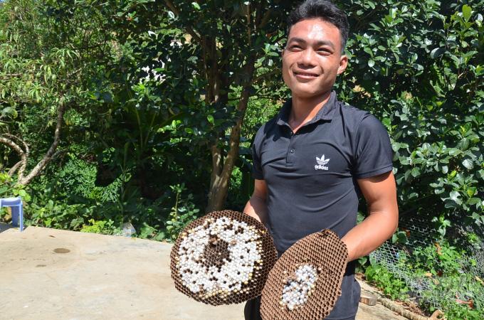 Bắc Giang: Ở đây có một nghề mới nghe nhiều người đã khiếp, nuôi ong kịch độc để lấy… thịt - Ảnh 4.