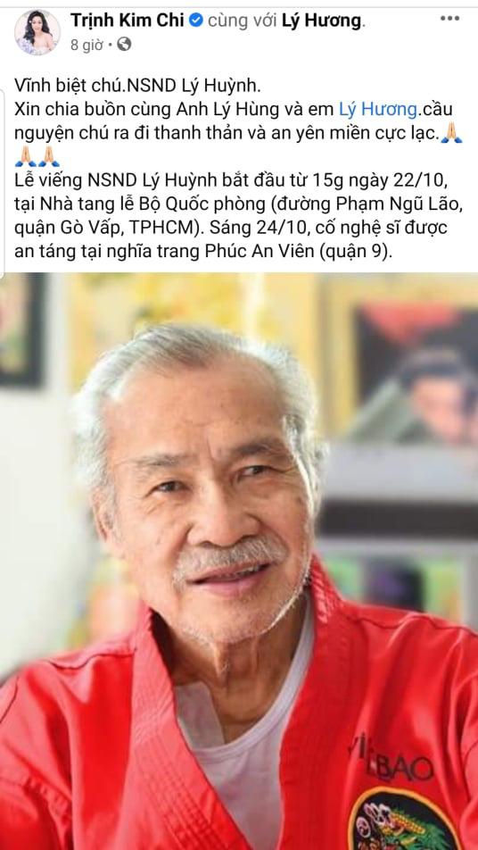 Các nghệ sỹ tiếc thương trước sự ra đi của NSND Lý Huỳnh - Ảnh 6.