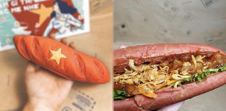 Bánh mì mang màu sắc quốc kỳ Việt Nam có gì đặc biệt mà dân tình sốt xình xịch lùng mua? - Ảnh 1.