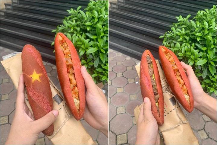 Bánh mì mang màu sắc quốc kỳ Việt Nam có gì đặc biệt mà dân tình sốt xình xịch lùng mua? - Ảnh 2.