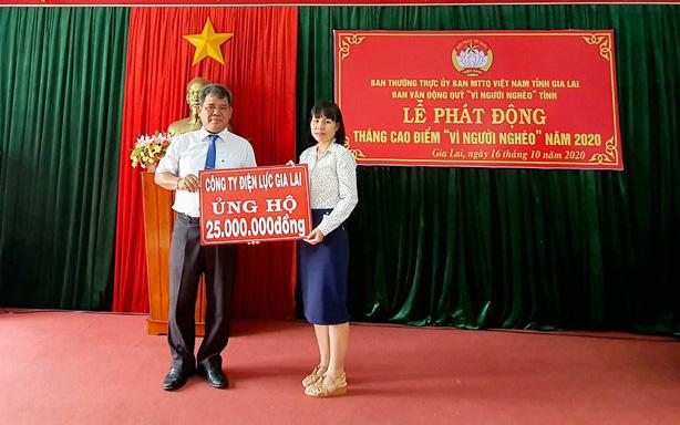 """PC Gia Lai tham gia ủng hộ Tháng cao điểm """"Vì người nghèo"""""""