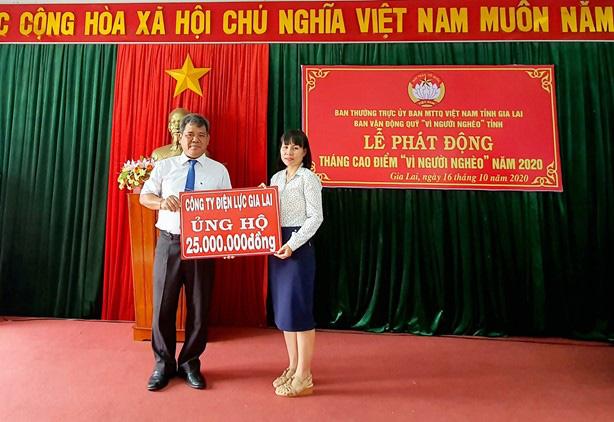 """PC Gia Lai tham gia ủng hộ Tháng cao điểm """"Vì người nghèo"""" - Ảnh 1."""