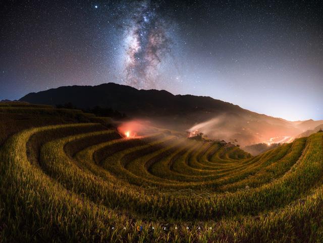 Chiêm ngưỡng dải ngân hà đẹp như phim ở Mù Cang Chải - Ảnh 3.