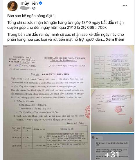 """Thủy Tiên nói gì khi bị yêu cầu """"ghi ra giấy"""" chi tiết số tiền cho dân vùng lũ?   - Ảnh 3."""