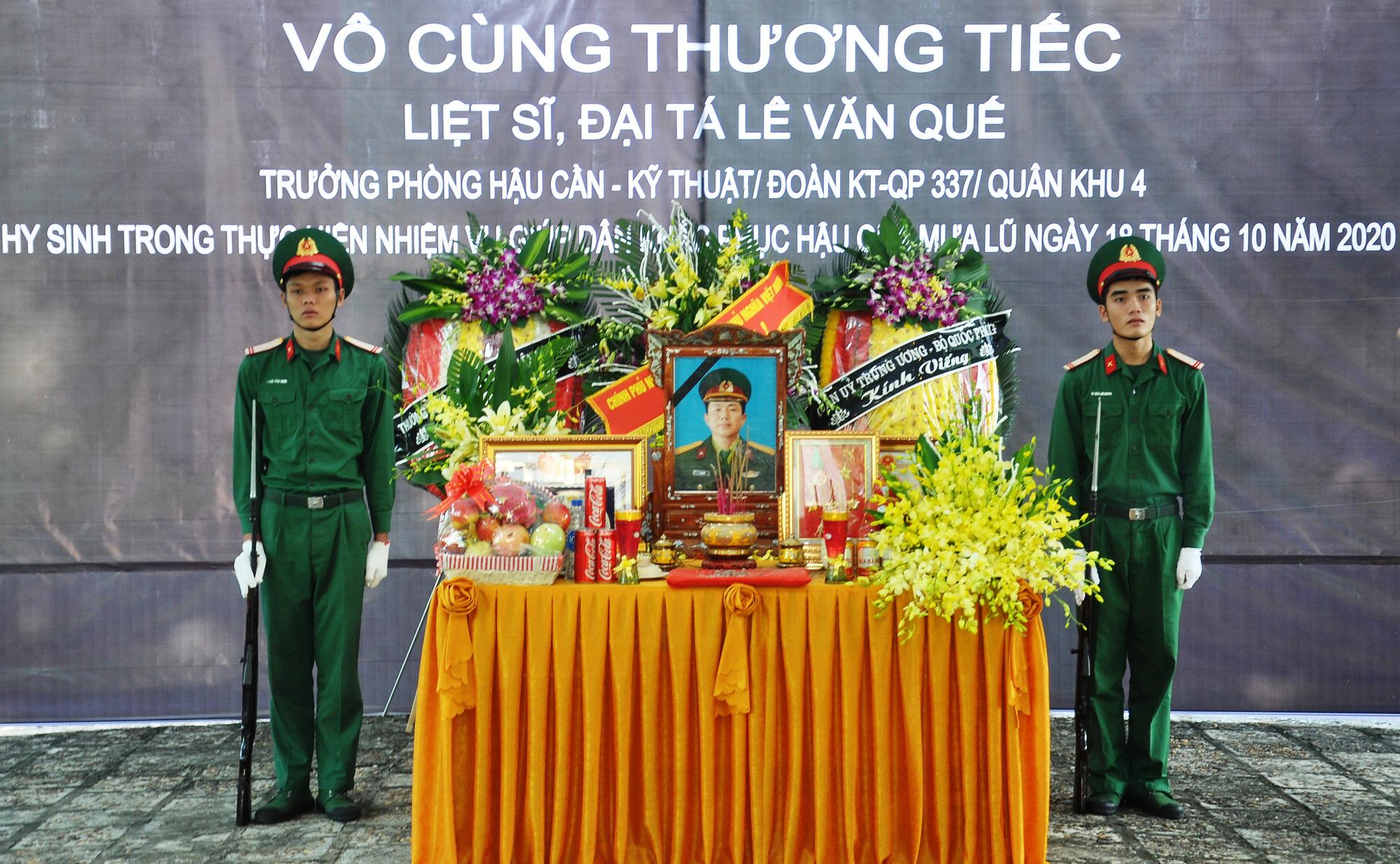 Lễ viếng, truy điệu ở quê nhà đại tá Lê Văn Quế, 1 trong 22 liệt sĩ đoàn 337  - Ảnh 1.
