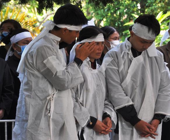 Lễ viếng, truy điệu ở quê nhà đại tá Lê Văn Quế, 1 trong 22 liệt sĩ đoàn 337  - Ảnh 8.