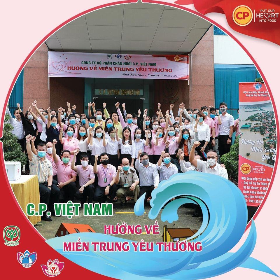 """C.P. Việt Nam """"Hướng về miền Trung yêu thương"""" - Ảnh 1."""