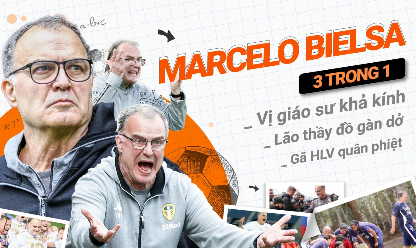 Marcelo Bielsa 3 trong 1: Vị giáo sư khả kính, lão thầy đồ gàn dở và gã HLV quân phiệt - Ảnh 1.