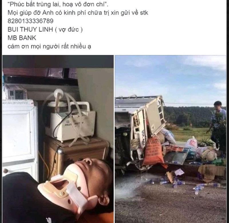 Giả mạo vợ tài xế của xe cứu trợ bị tai nạn để lừa tiền - Ảnh 2.
