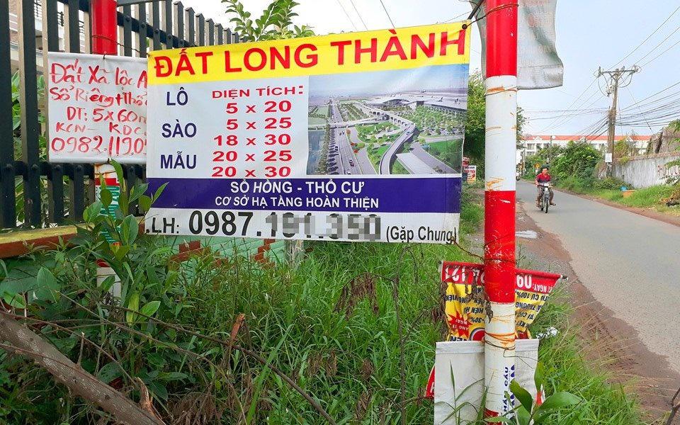 Giá đất gần dự án án sân bay Long Thành bị đẩy cao - Ảnh 2.