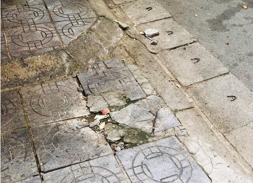 """Vỉa hè lát đá tại Hà Nội: Tuổi thọ 70 năm, nhưng chỉ """"sống"""" 2 năm - Ảnh 4."""
