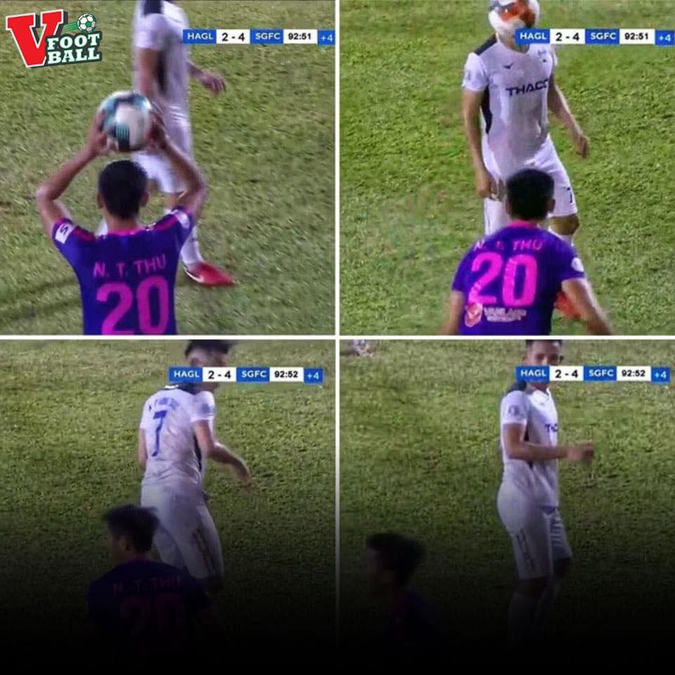 HLV Lê Thuỵ Hải phát ngôn sốc về cầu thủ ném bóng vào mặt Hồng Duy - Ảnh 1.