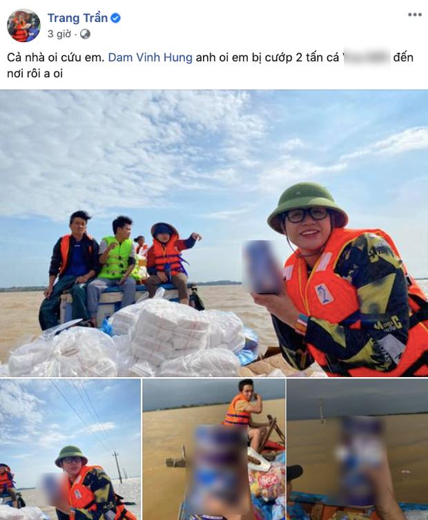 Trang Trần cầu cứu dân mạng khi 2 tấn hàng cứu trợ người dân miền Trung có nguy cơ bị ăn chặn - Ảnh 1.