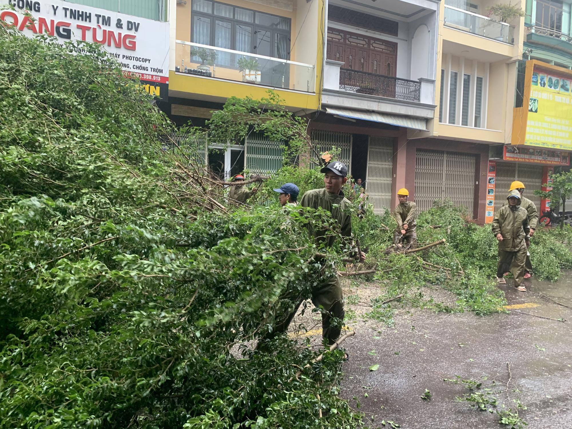 """Bình Định """"cấp tốc"""" dọn dẹp thiệt hại do bão số 9 - Ảnh 1."""