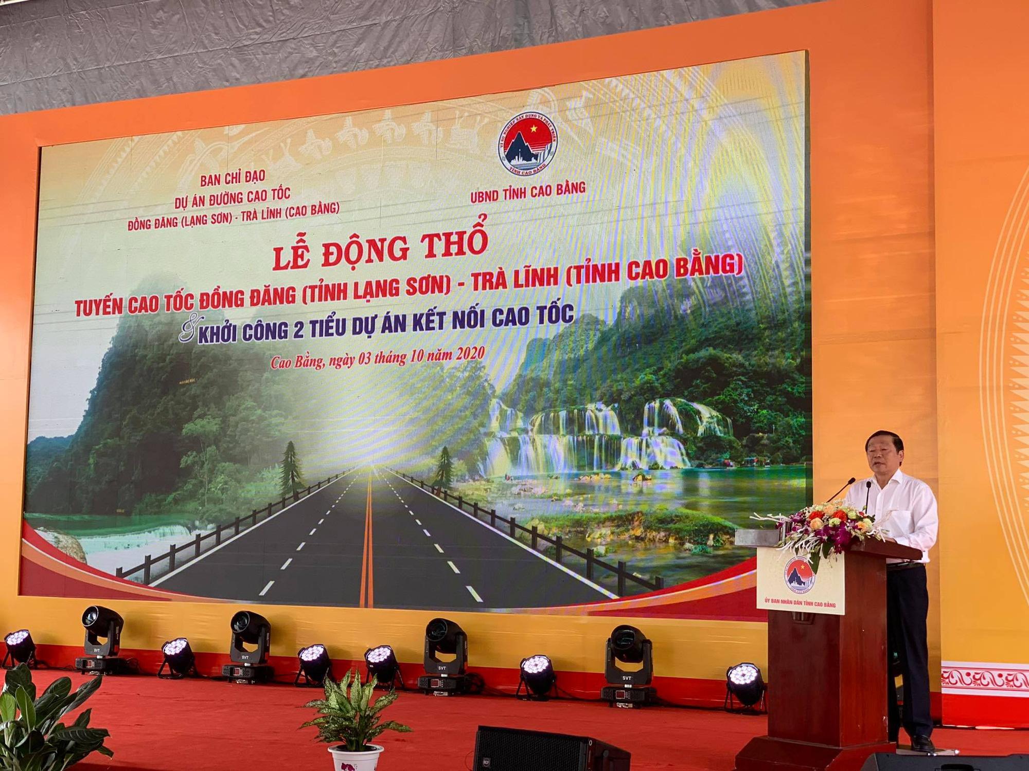 Cao Bằng: Động thổ tuyến đường cao tốc kiểu mẫu về thân thiện môi trường - Ảnh 2.