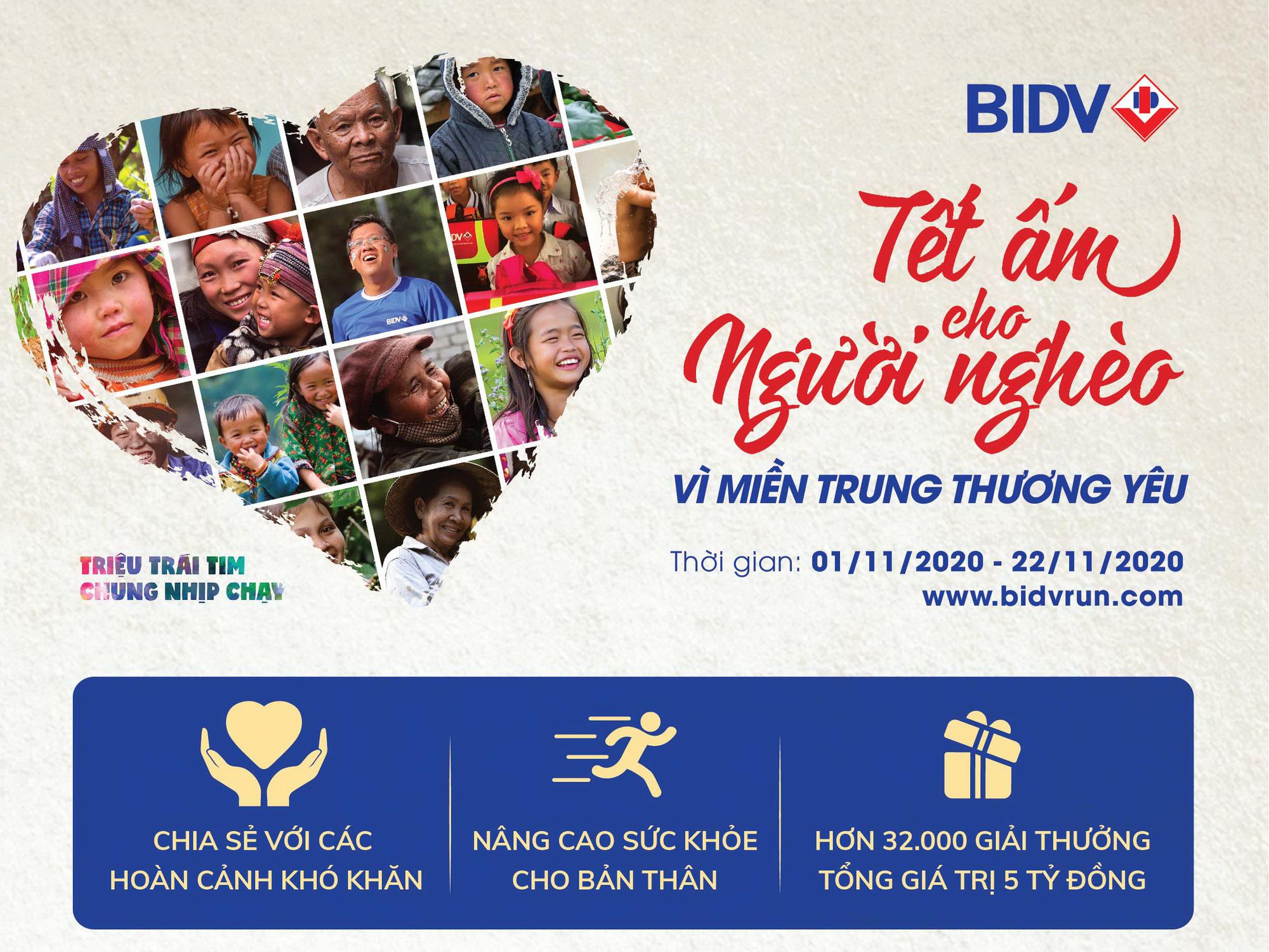 """BIDV tổ chức giải chạy  """"Tết ấm cho người nghèo – Vì miền Trung thương yêu"""" - Ảnh 1."""
