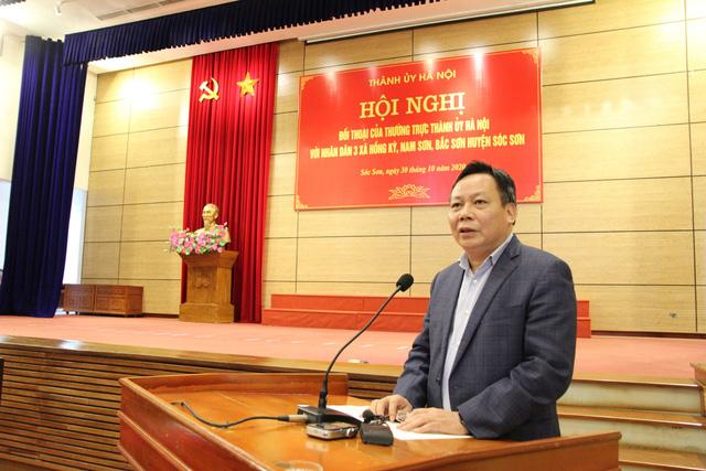 """Hà Nội đối thoại với người dân Sóc Sơn: """"Chặn xe rác là hành vi vi phạm pháp luật"""" - Ảnh 3."""