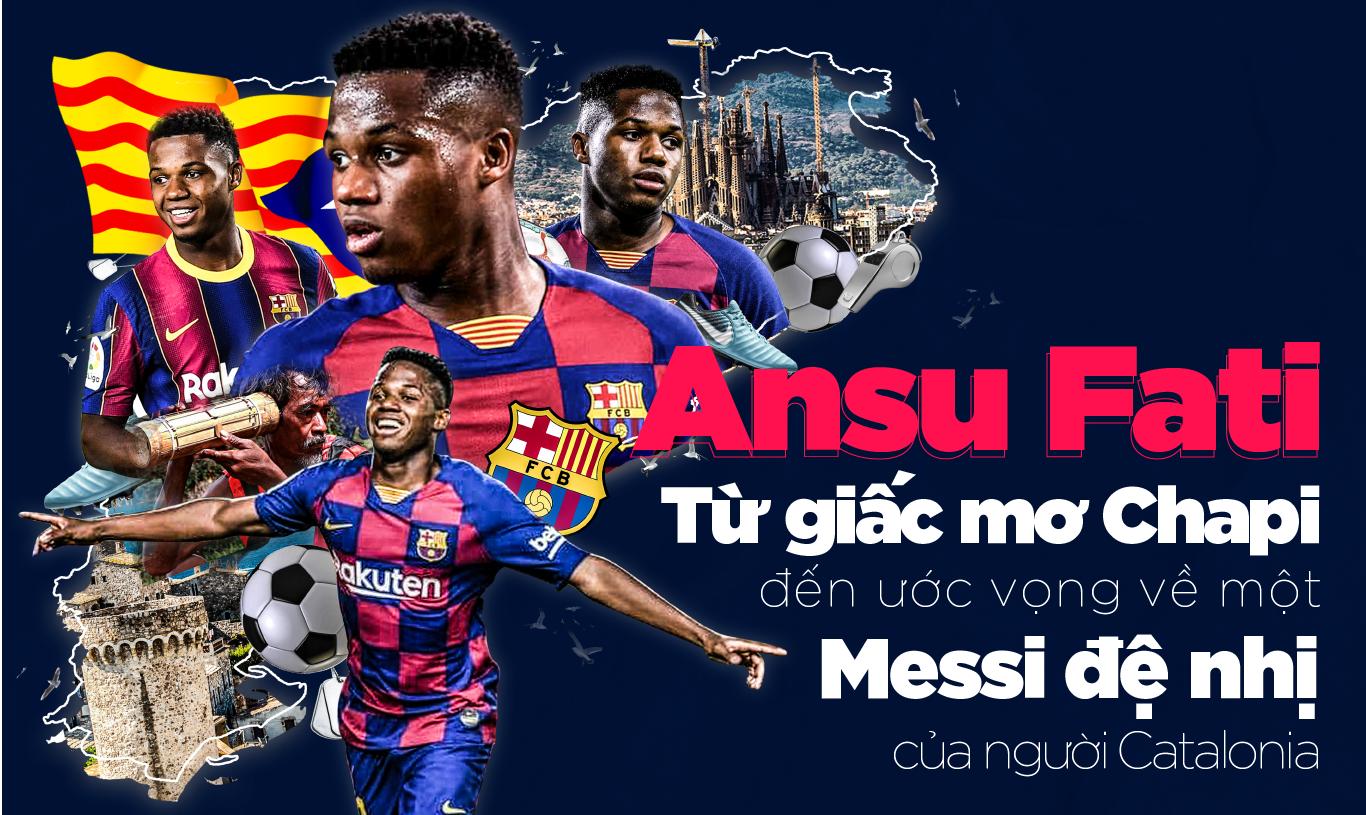 Ansu Fati: Từ giấc mơ Chapi đến ước vọng về một Messi đệ nhị của người Catalonia - Ảnh 1.