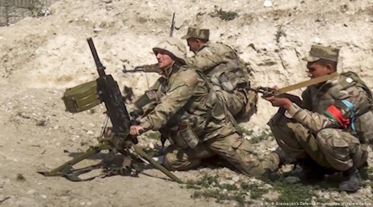 Chiến sự Armenia-Azerbaijan: Sự thật bằng chứng về sự hiện diện của nước ngoài ở vùng nóng - Ảnh 1.