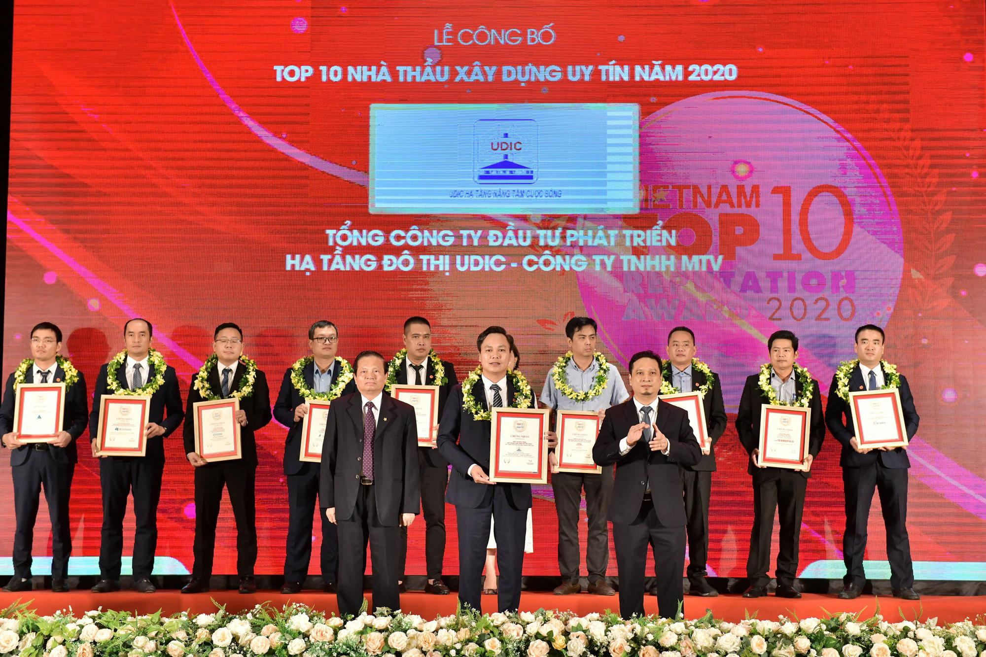 Tổng Công ty UDIC trong Top 10 nhà thầu uy tín 2020 - Ảnh 1.