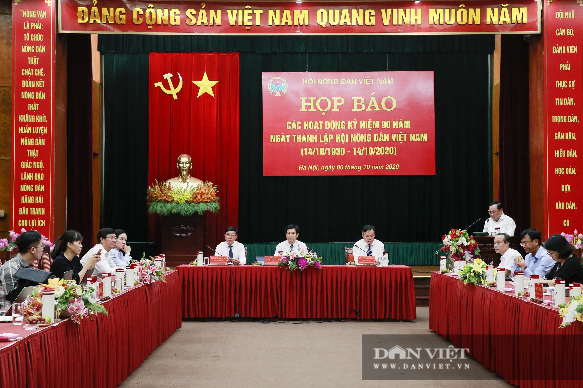 Toàn cảnh Họp báo kỷ niệm 90 năm Ngày thành lập Hội Nông dân Việt Nam - Ảnh 1.