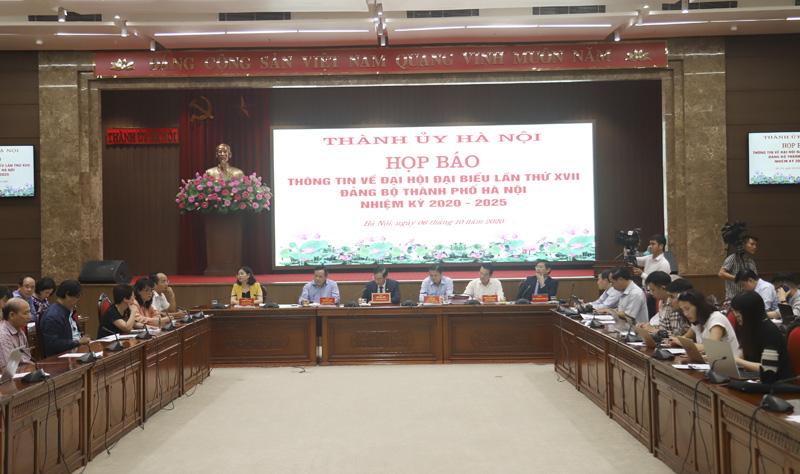 """Họp báo Đại hội Đảng bộ Hà Nội: """"Kiên quyết không đưa vào cấp ủy những người không đủ tiêu chuẩn"""" - Ảnh 3."""