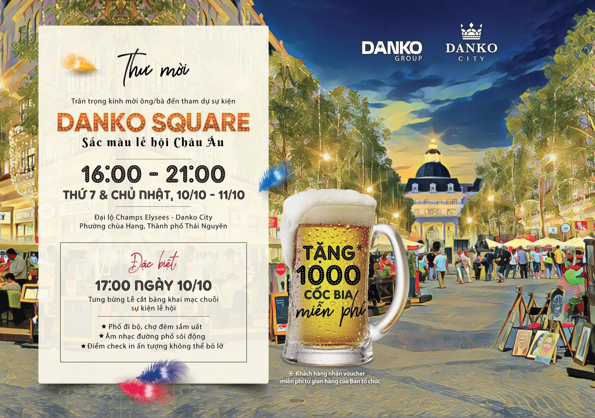 Danko Square - Không gian hội chợ châu Âu lần đầu tại Thái Nguyên  - Ảnh 2.
