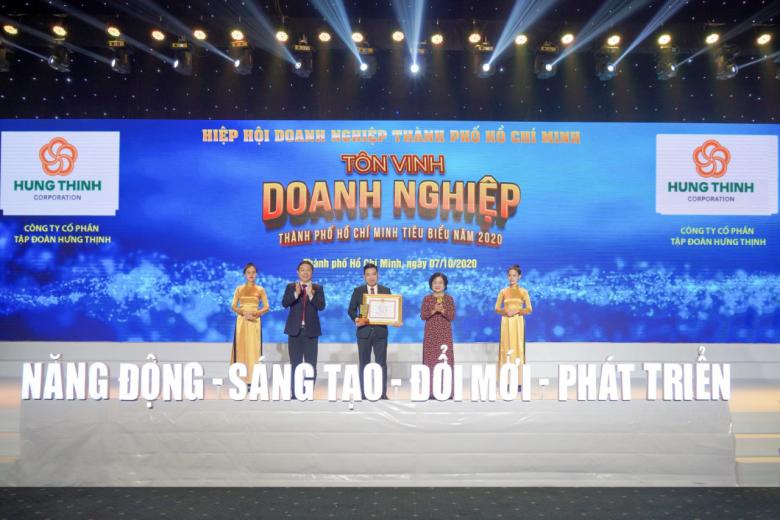 Tập đoàn Hưng Thịnh thắng lớn với loạt giải thưởng Doanh nghiệp, Doanh nhân TP.HCM tiêu biểu năm 2020 - Ảnh 1.