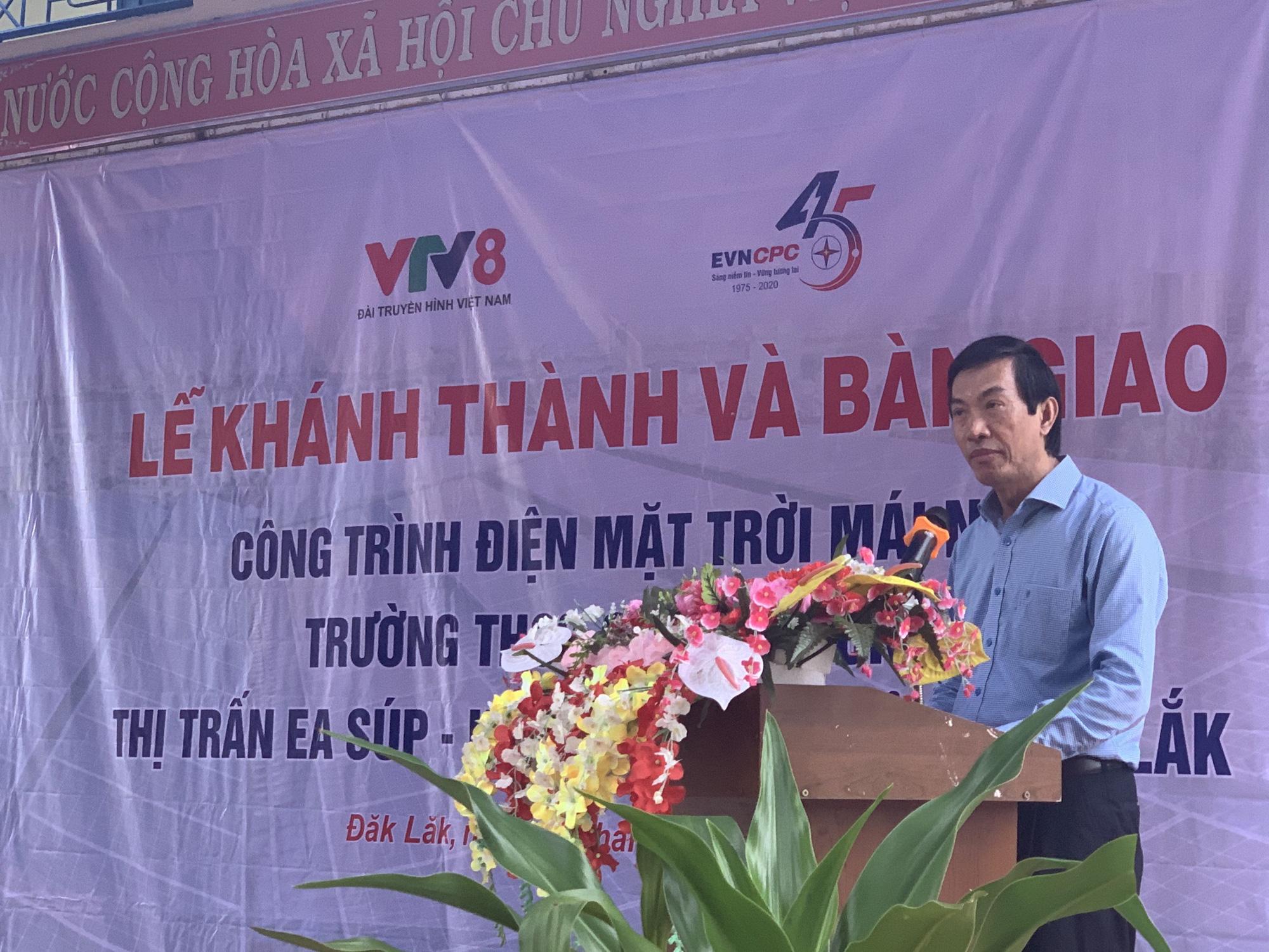 Tổng Công ty Điện lực miền Trung bàn giao hệ thống điện mặt trời mái nhà cho trường học tại Đắk Lắk - Ảnh 2.