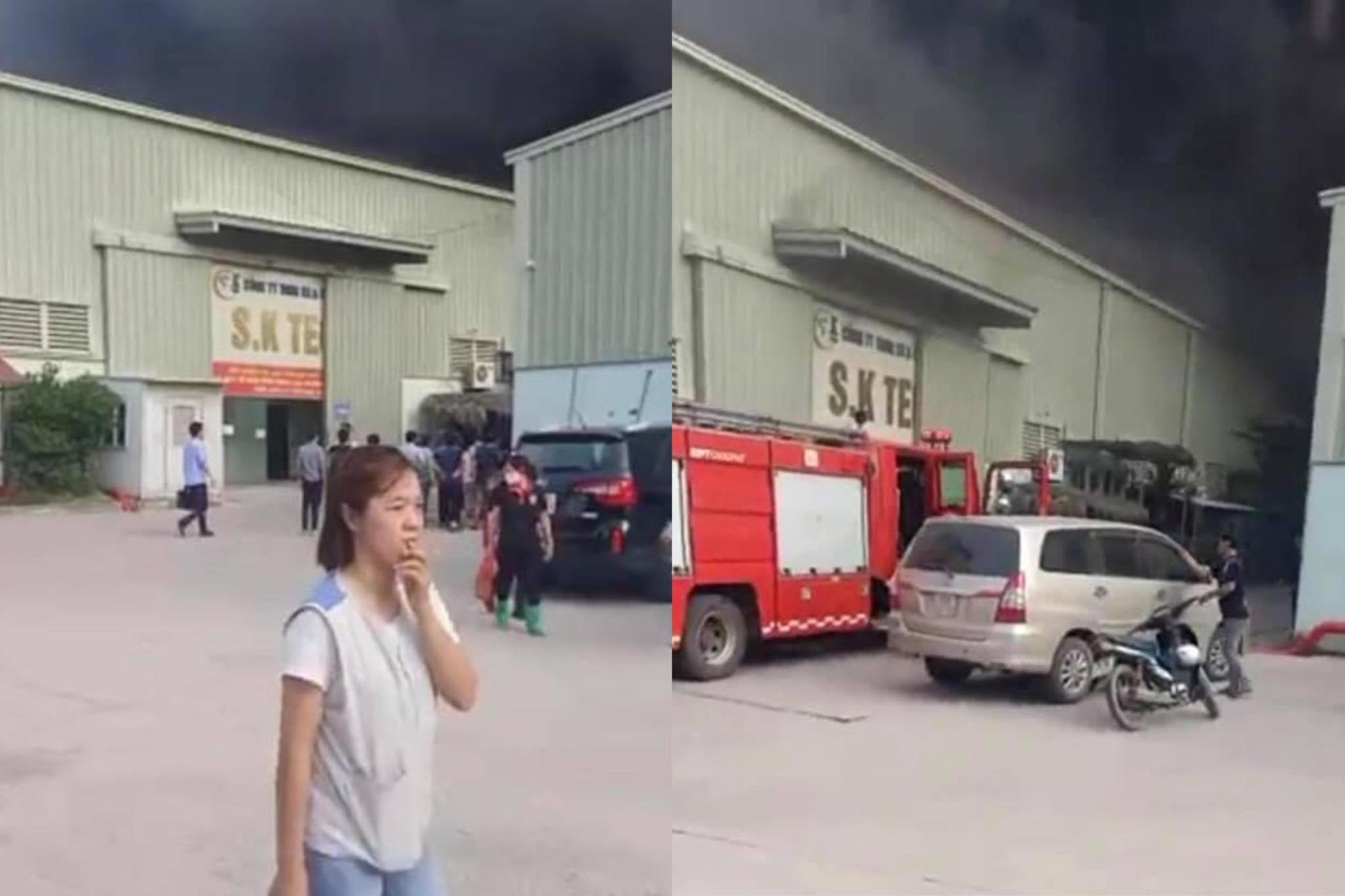 Bắc Ninh: 'Bà hoả' thiêu rụi nhà xưởng KCN, ít nhất 3 người bị thương - Ảnh 1.