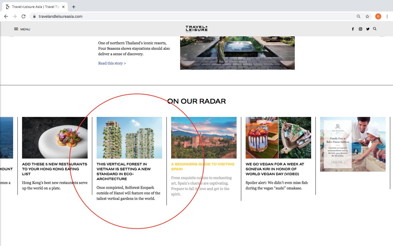 Tạp chí danh tiếng của Mỹ dành vị trí nối bật trang chủ viết về tòa tháp xanh cao nhất của Việt Nam - Ảnh 1.