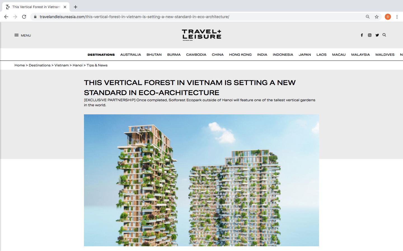 Tạp chí danh tiếng của Mỹ dành vị trí nối bật trang chủ viết về tòa tháp xanh cao nhất của Việt Nam - Ảnh 2.
