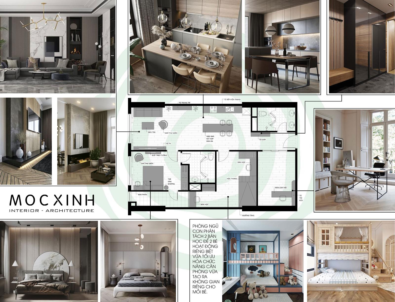 Những ý tưởng độc đáo cho thiết kế nội thất căn hộ chung cư hiện đại đẹp nhất - Ảnh 8.